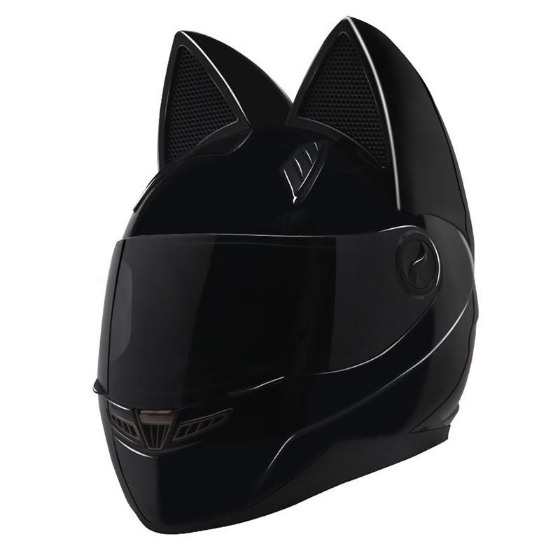 Cascos con orejas de gato para mujeres
